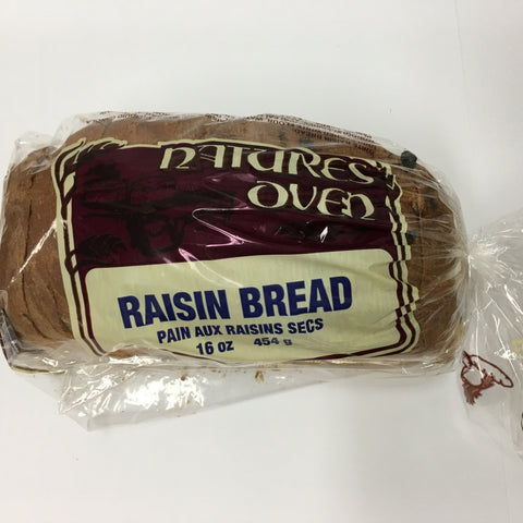 Natures Oven Raisin Bread