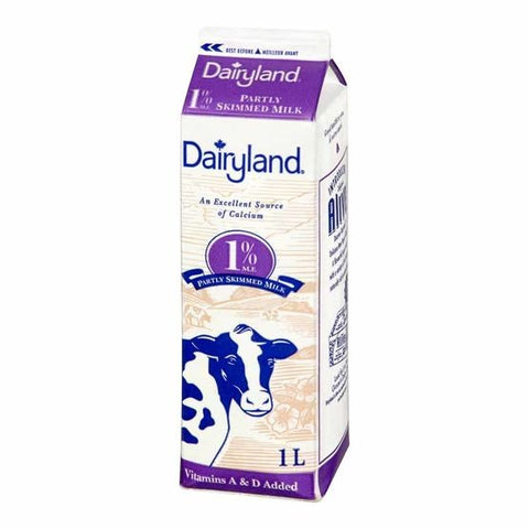 Dairyland 1l 1% Milk