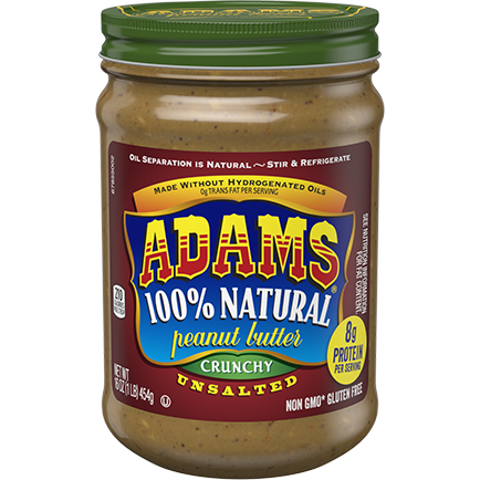 Adams Unsalt Crchy Natural Pnt Butter