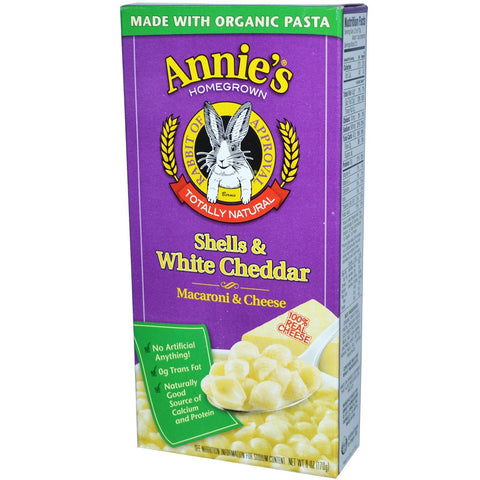 Annie's Mac & Cheese (Shells, White Cheddar)