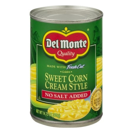 Del Monte No Salt Added Cream Corn
