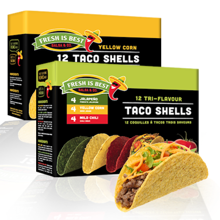 Fresh Is Best Tri-Flavour Taco Shells