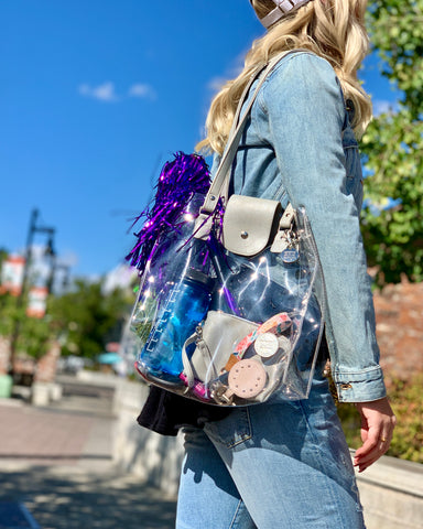 Clear Unity Bags - Clear bags and clear purses for the NFL clear bag policy.  All clear bags, clear backpacks are clear stadium bag approved for clear bag policies.  Clear Unity Bags - a social-impact clear bag brand.