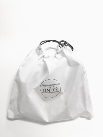 Clear Unity Bags - Dust Bag. Clear Unity Bags are stadium & clear bag policy approved for PGA, NFL, concert venues and music festivals. Clear Unity Bags - clear bags with a mission to save lives. Proceeds support the I Can Stop The Bleeding Campaign. Clear bags with a purpose.