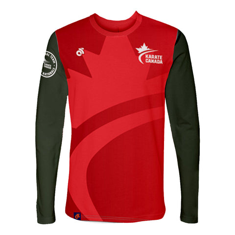Karate Canada Red Long Sleeve Tee / Chandail à manches longues