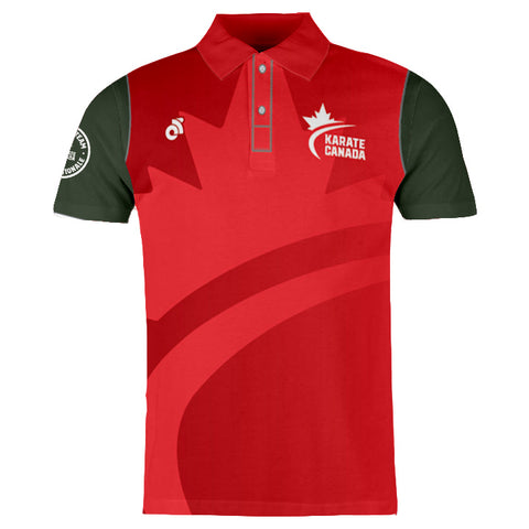 Karate Canada Red Polo Shirt / Chandail Polo Rouge