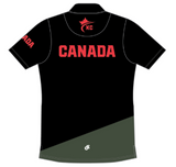 Karate Canada Supporter Black Polo Shirt / Chandail Polo Noir