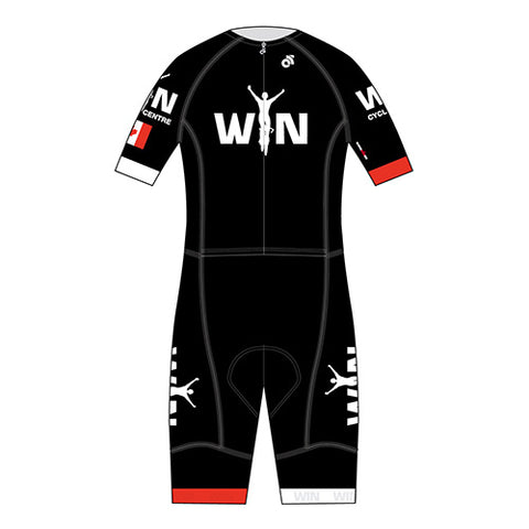 Win Cycling Centre Performance 2-Piece Skinsuit Black  Short Sleeve / Long Sleeve