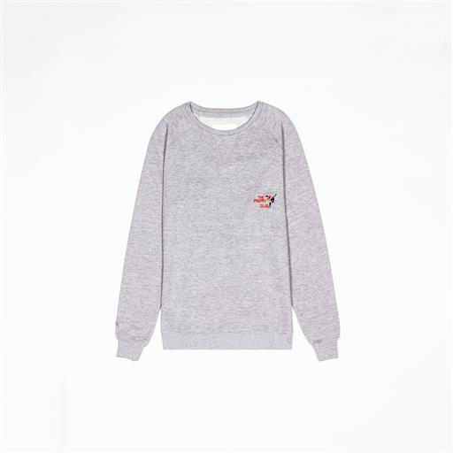 Women Preppy Club Sweater - Grey