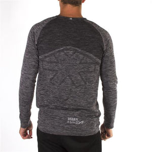 Tech Knit Long Sleeve - Black Melange