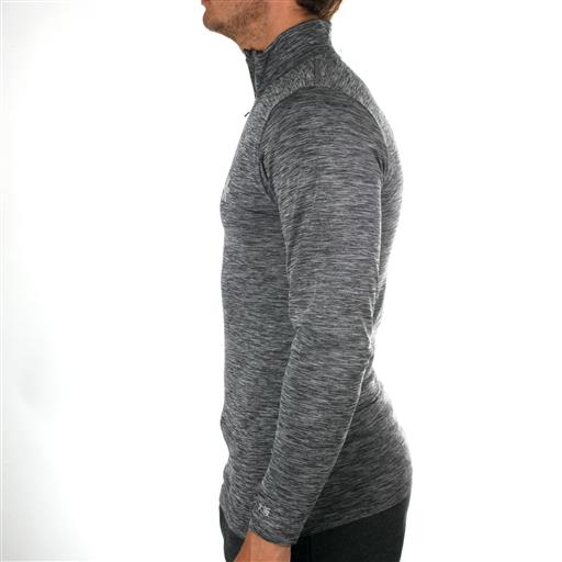 Tech Zip Long Sleeve - Black Melange