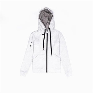 Techleisure Zip Hoodie - Off-White