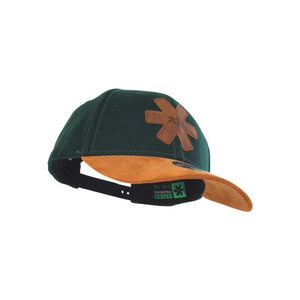 Curved Snapback - Green Wool