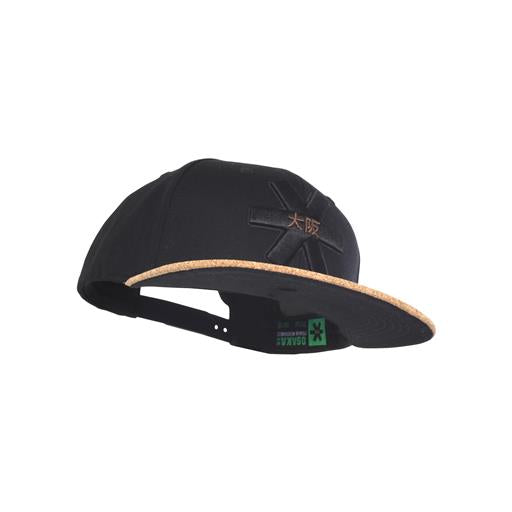 Snapback Flat - Black Canvas/Cork