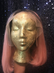 "Cleopatra's Crown Hair Extensions 12"" Virgin 1B/Pink Front Lace Wig"