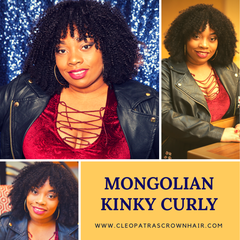 Cleopatra's Crown Hair Extensions Mongolian Kinky Curly