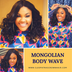 Cleopatra's Crown Hair Extensions Mongolian Body Wave