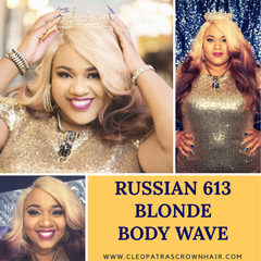 Cleopatra's Crown Hair Extensions Russian #613 Blonde