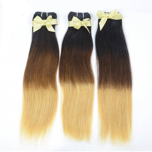 Raw 1B/Brown/613 Blonde Ombre Hair 3-Bundle Deals