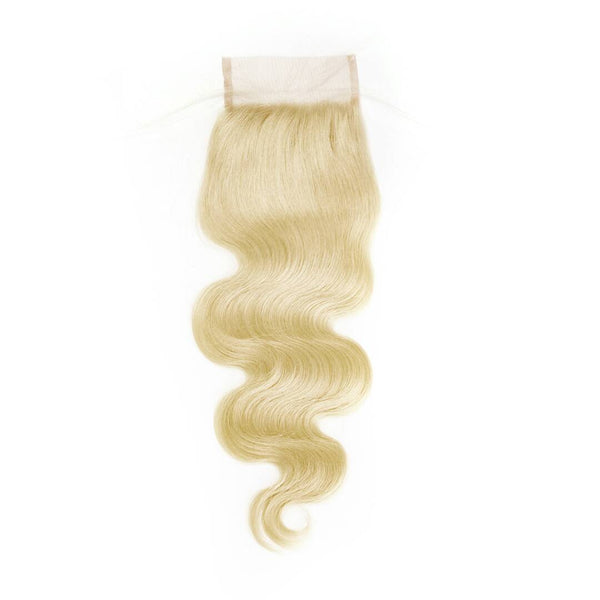 Raw Russian #613 Blonde 4x4 Lace Closure - Body Wave