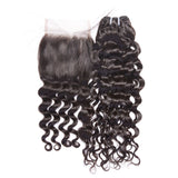 Virgin Italian Wave Mongolian 4x4 Lace Closure