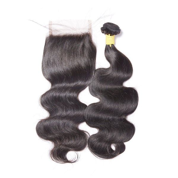 Virgin Body Wave Mongolian 4x4 Lace Closure