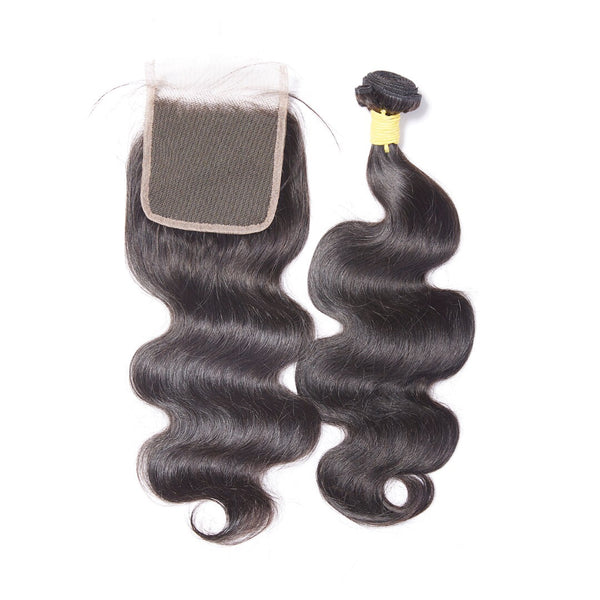 Virgin Body Wave Mongolian 4x4 Lace Closure - Back