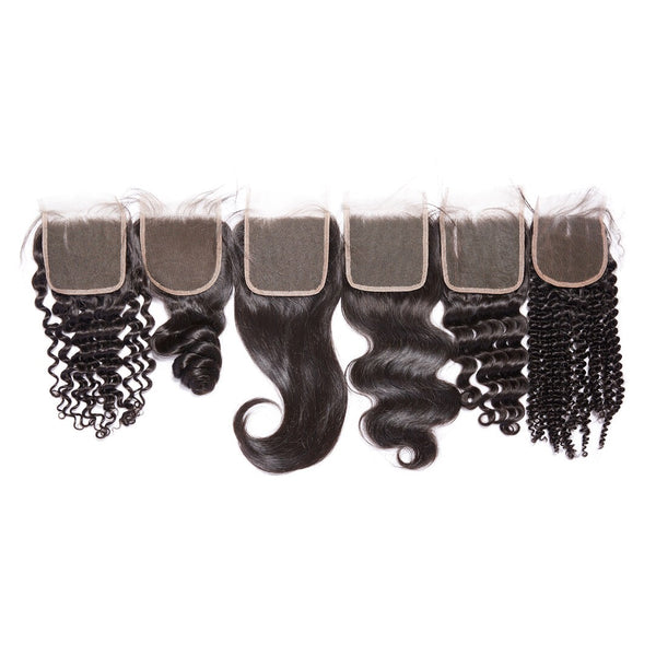 Virgin Mongolian 4x4 Lace Closures - Back