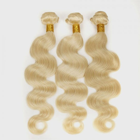 Virgin Russian 1B/#613 Blonde Ombré Hair 3-Bundle Deals