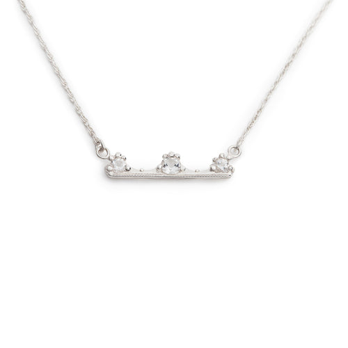 Miss America Crown Bar Pendant