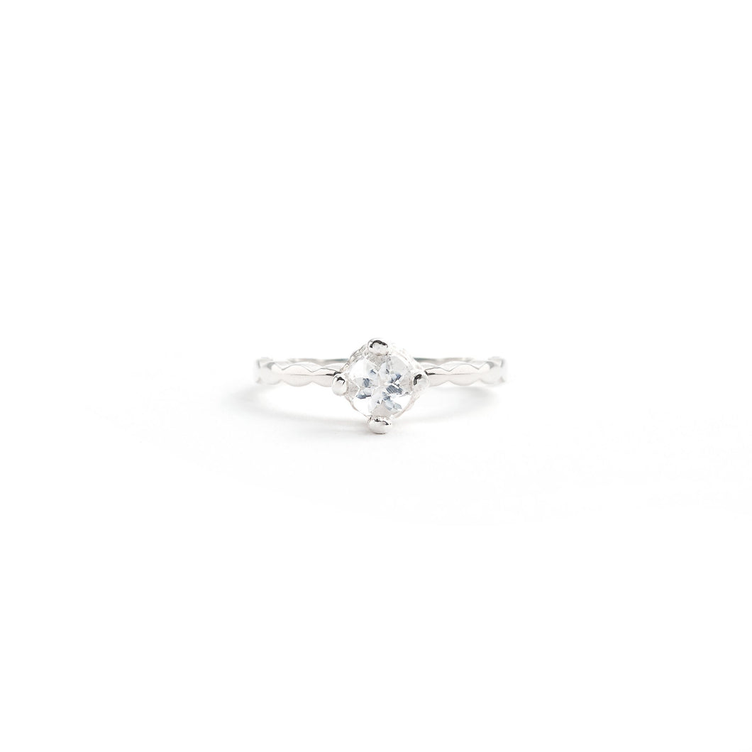 5mm Round Solitaire Ring