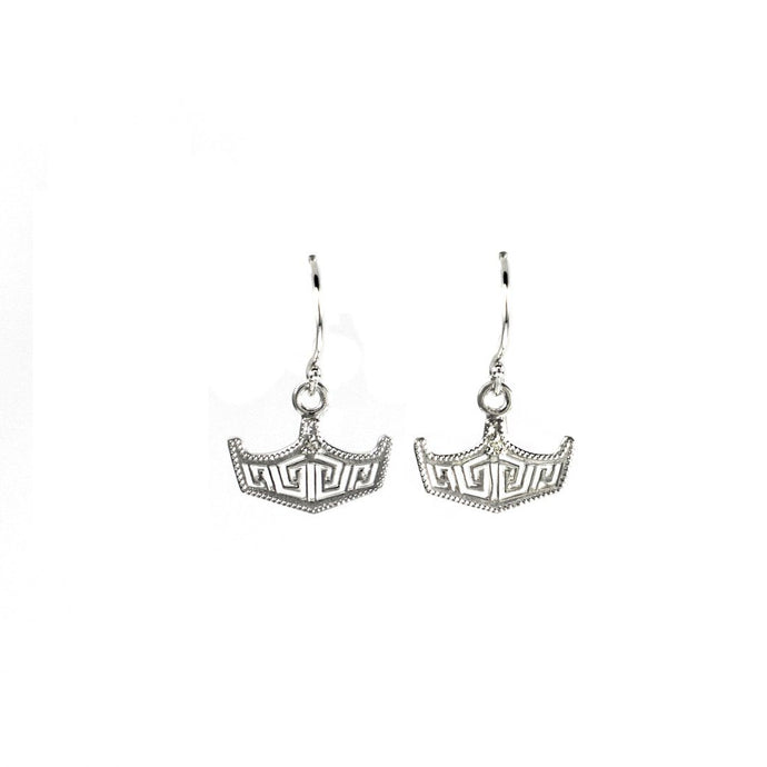 Crown Hook Earrings Large