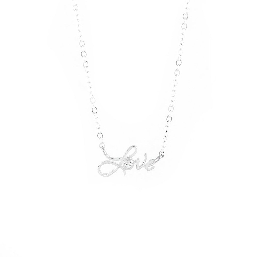 14K Diamond LOVE pendant