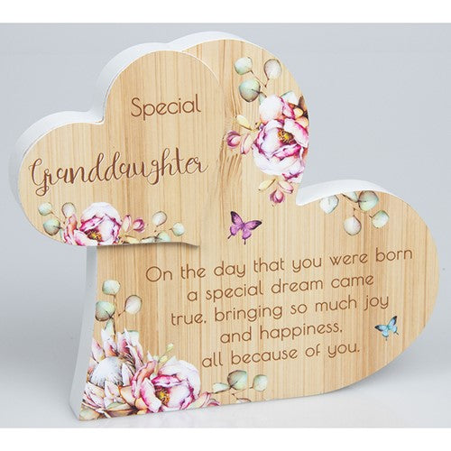 Special Granddaughter Vintage Heart