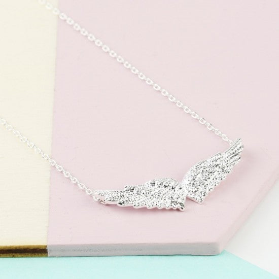 Silver Angel Wings Necklace