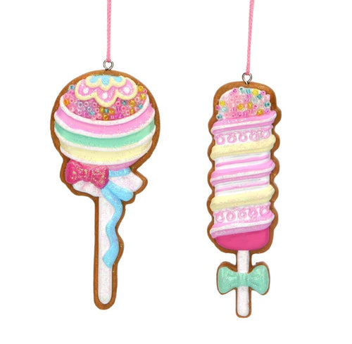 Sweet Treats Gingerbread Lolly Decorations
