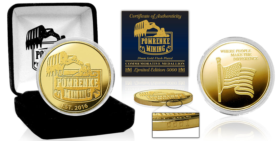 Limited Edition Gold Plated Pomrenke Coin