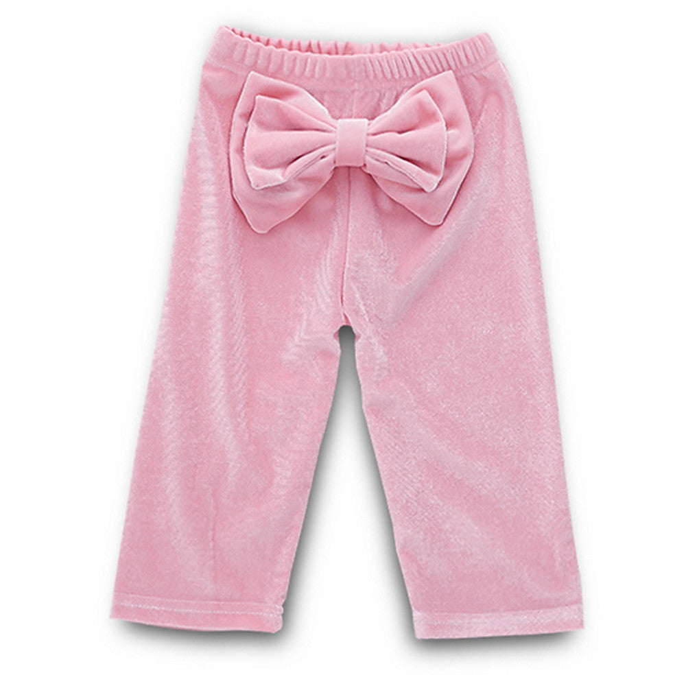 Baby Girls' Street chic Daily Solid Colored Long Sleeve Regular Clothing Set Blushing Pink / Toddler