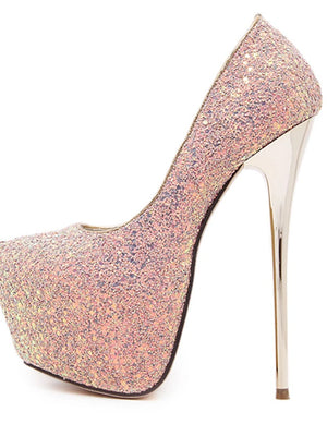 Women's Stiletto Heel / Platform Synthetic Summer / Fall Black / Blue / Pink / Dress