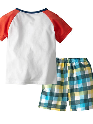 Print Sleeveless Regular Cotton Clothing Set White / Toddler