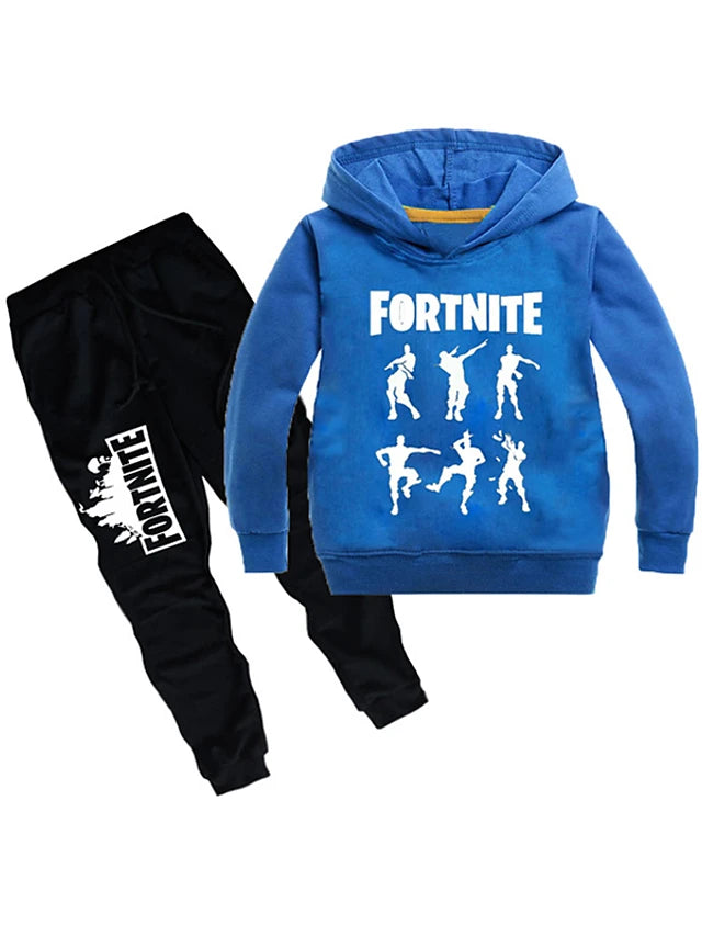 Kids Boys' Basic Cartoon Long Sleeve Regular Clothing Set