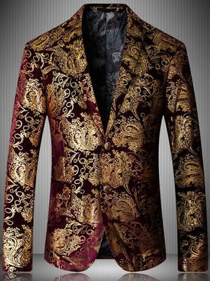 Men's Party  Plus Size , Print Blazer XXXL / 4XL / XXXXXL
