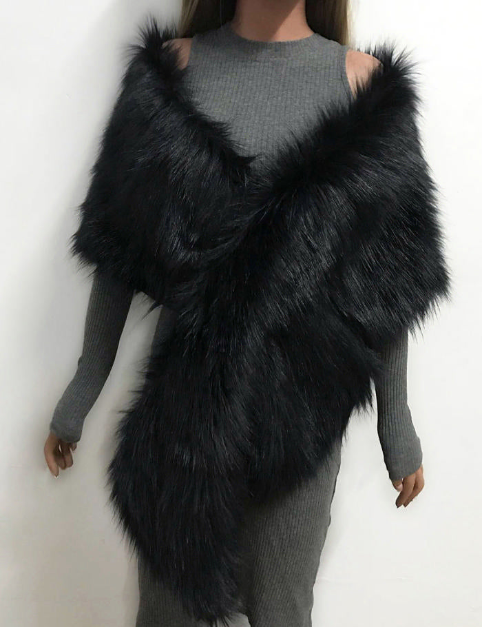 Winter Faux Fur Scarf Wrap Collar Shawl