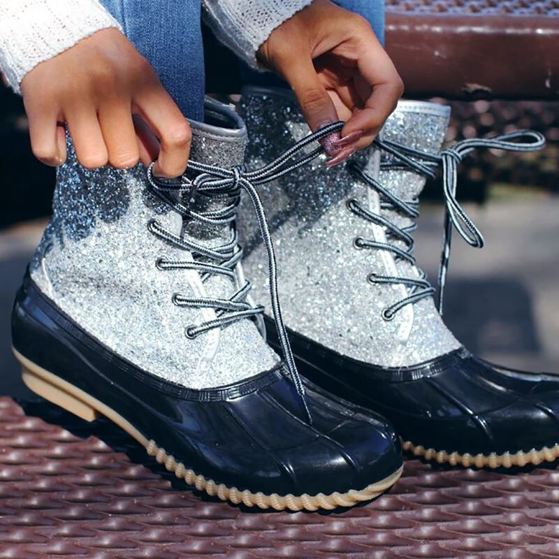 Bling Snow Ankle Boots