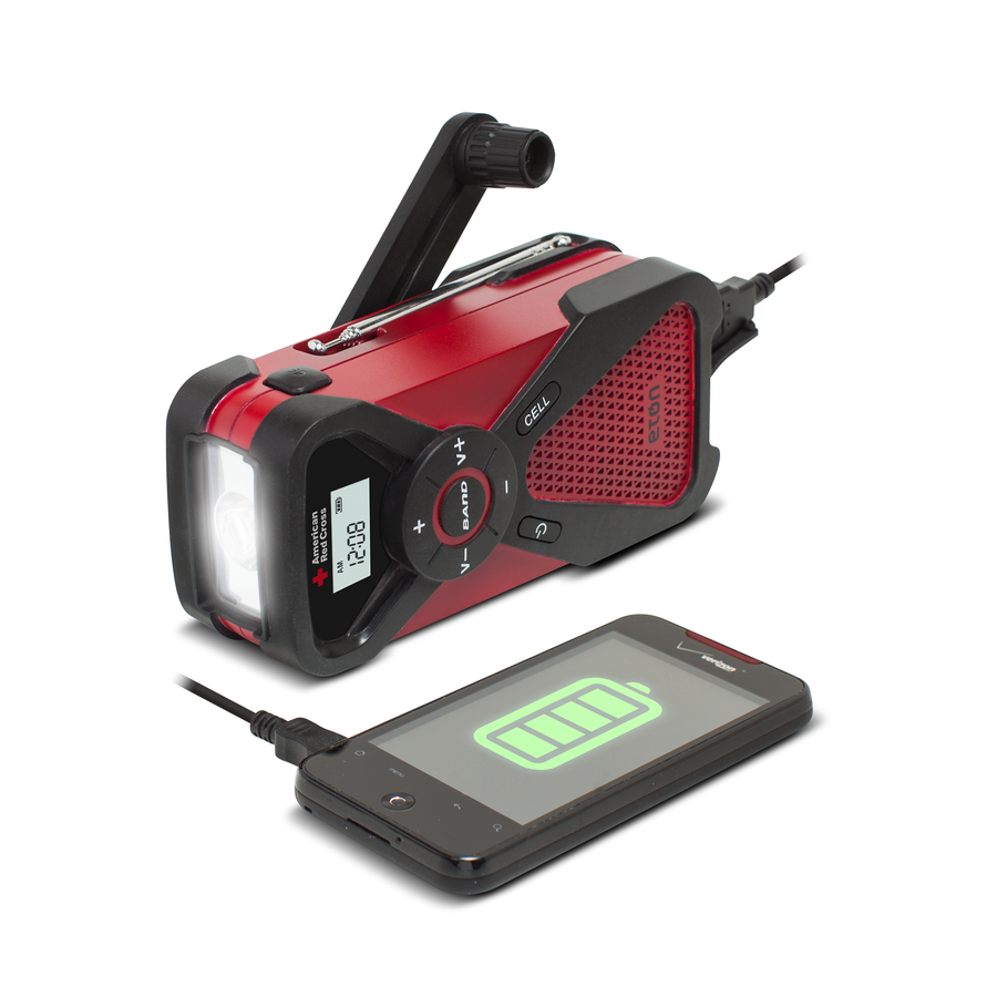 American Red Cross FR1 Multi-Powered Radio, Charger, and Flashlight