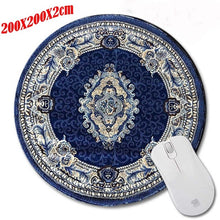 Top Selling Persian Carpet Computer Gaming Round Mouse Pad Gamer Play Mats Customization Supported Decorate Desk 200*200*2CM