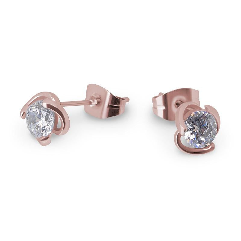 rose gold small stud earrings for girls