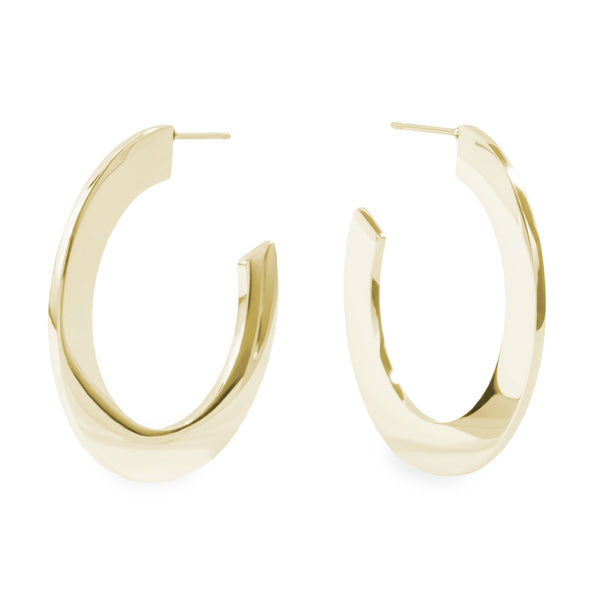 Gold minimal bold hoop earrings hypoallergenic T119E006DO MIA JEWELRY