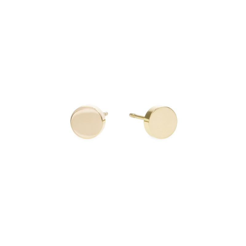 minimal round earrings stainless steel boucles d'oreilles acier inoxydable MIA T219E003