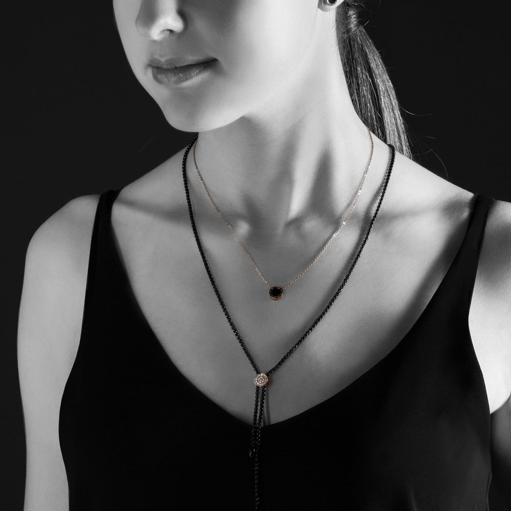stainless-rose-gold-black-round-pendant-necklace-pendentif-rond-noir-or-rose-acier-inox-T316P018DORO-MIA
